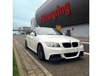 BMW 3 Series E90 E91 LCI M-Sport Front Bumper Corner Splitters Extensions Spoiler Lip Race