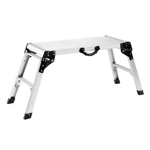 Portable Aluminum Alloy Work Platform Ladder Foldable Bench