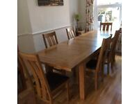 Riad Large Extending Table and Six Chairs