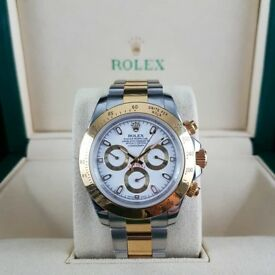 New Rolex Daytona Bi-Metal with White Face Comes Rilex Boxed with Paperwork