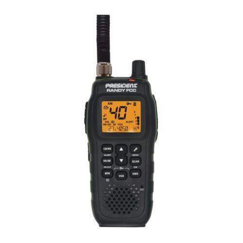 PRESIDENT RANDY FCC 40CH CAR/HOME CB HANDHELD WALKIE-TALKIE RADIO W/ WEATHER