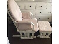 Nursery rocking chair and footstool