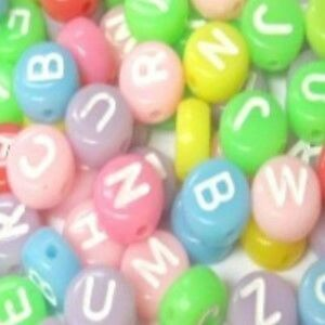 100-Pcs-6-5mm-Opaque-Colorful-Flat-Round-Alphabet-Letter-Beads-Various-Alphabet