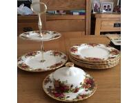 Royal Albert Old Country Roses afternoon tea set