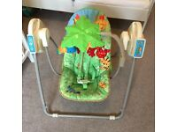 Fisher Price Rainforest take along baby swing very good condition
