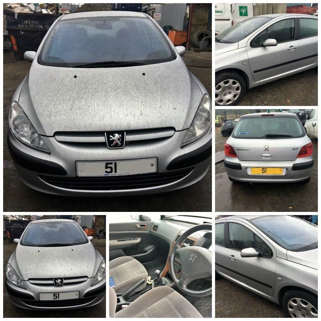 Peugeot 307 LX 16v 2002 1.6 EYCC Aluminium Silver Petrol Ford Breaking all parts available
