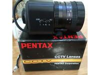 Two Brand New PENTAX Cctv lenses & camera