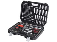 Costway 215 Piece Professional Drive Socket Set Ratchet Spanner Mechanics Tool Kit Case