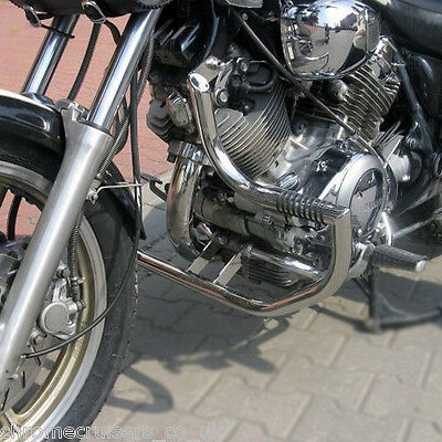 <em>YAMAHA</em> XV 7501100 VIRAGO ENGINE CRASH BAR GUARD WITH BUILT IN HIGHWAY