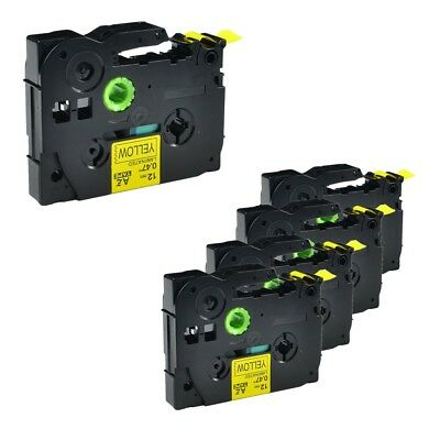 5pk Black On Yellow Label Tape For Brother Tz Tze 631 Tze631 P-touch 12mm 12