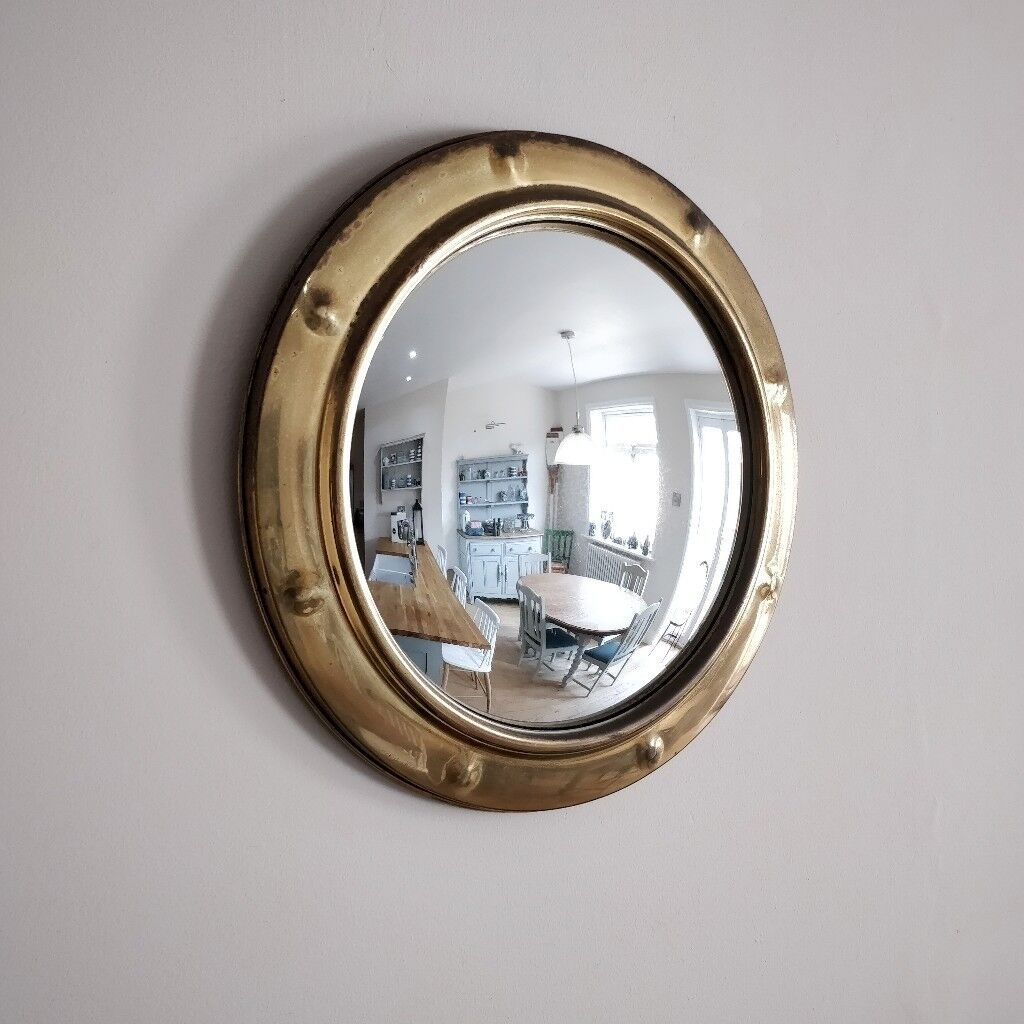 Round Mirror Convex Vintage Hall Antique Wall