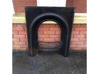 Antique Cast Iron Fireplace / Fire Grate / Vintage Fire Place / Fire surround