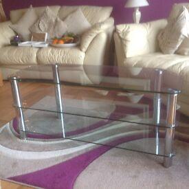 Glass Coffeee / TV Table