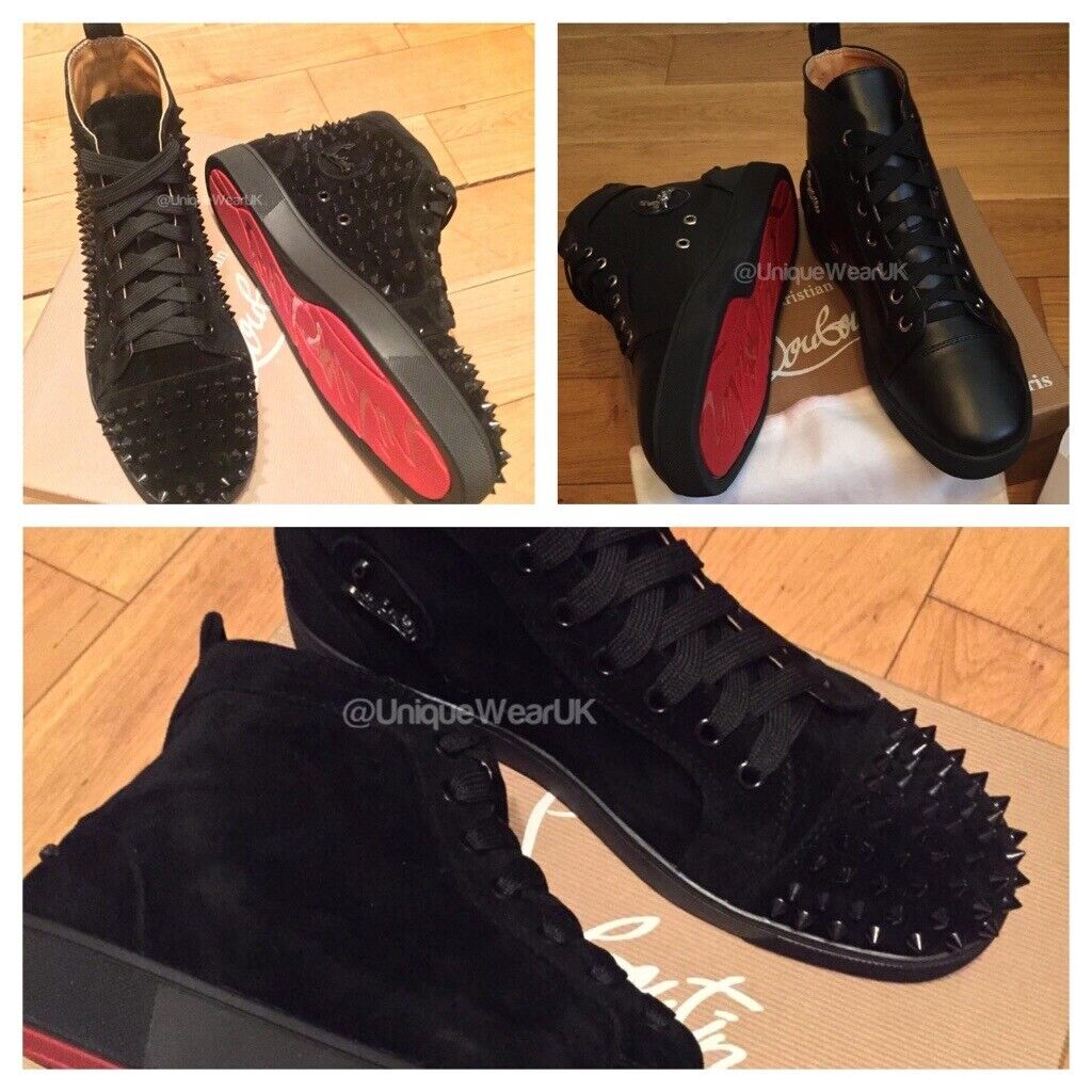 cheap for discount dccee daacf Christian Louboutin Calf Suede Studded Spike Trainers Shoes Mens Boys  Sneakers Loubs Various Size   in Stratford, London   Gumtree