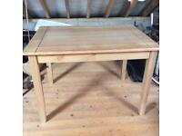 Solid Pine table (assembled but never used) with 4/6 matching chairs(unassembled)