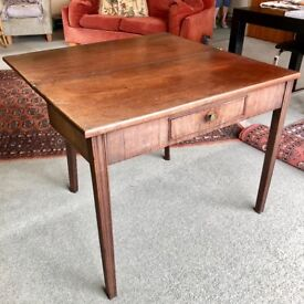 Traditional Darkwood Folding Card Table for Sale.