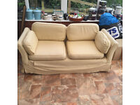 FREE to collect - two-seater sofa in cream loose cover