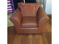 Brown Leather Suite (Sofa and 2 Chairs)