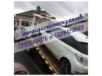 Recovery/transportation and scrap cars bought