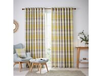 Helena Springfield Nora Check Lined Curtains 66 x 90/168X229CM - Chartreuse-RRP £125