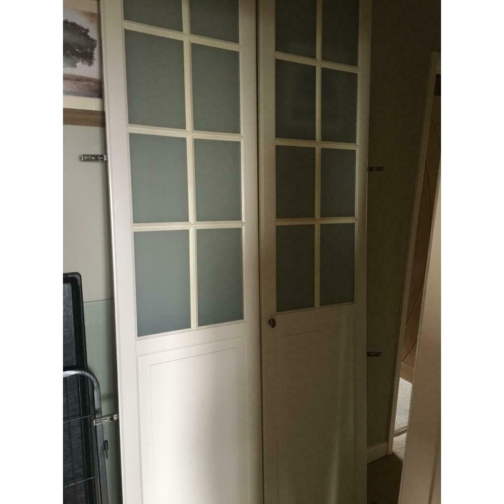 Ikea Pax Double Wardrobe With Birkeland Doors In Caerleon
