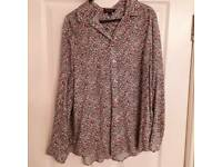 Floral blouse from top shop size 10