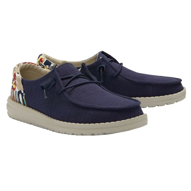Hey Dude Ladies Wendy Funk Chambray Navy Shoes 121932524