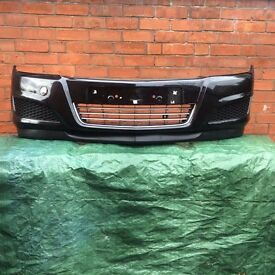 VAUXHALL ASTRA FACELIFT FRONT BUMPER 2007 2008 2009 2010 BLACK