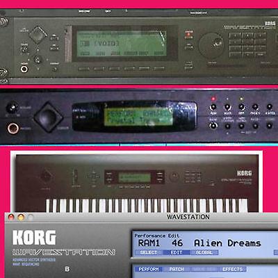 Korg Wavestation EX SR AD 40,000+ Largest Sound Program Patch Library on CDROM