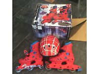 SPIDERMAN 3 INLINE SKATE AND HELMET SET - SIZE 12 - 2