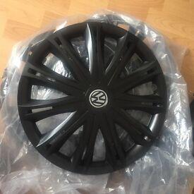 VW Volkswagen Brand New Black Hubcaps