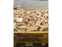 Free rubble/hardcore reclaimed bricks
