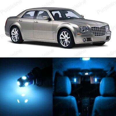 14 x Ice Blue LED Interior Light Kit For 2005 - 2010 Chrysler 300 300C + TOOL