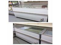 Sliding Top Commercial Chest Freezer Deep Freeze Retail
