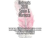 Yoga, meditation, hiking and holiday retreats in Spain and Morocco