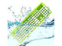 Boxed wireless keyboard waterproof, new ROCK CANDY 'Lalalime', MAC WINDOWS PC IPAD desk chair table