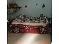 Children's wooden car bed