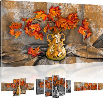 Wandbild Laub Blätter im Herbst Bild auf Leinwand Natur Bild ()