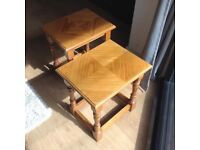 Solid wood side tables (pair)