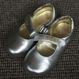 Lelli Kelly Silver Shoes, Small Girl Size 25 / UK 8