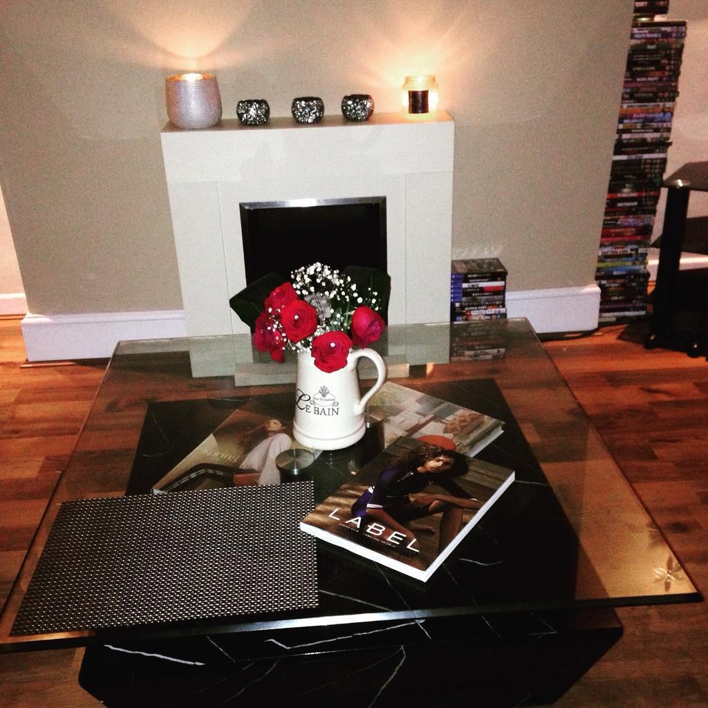 Large Glass Top Marble Bass Coffee Table In Bolton Manchester - Bass coffee table