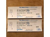 Dr John Cooper Clarke 2x tickets (front row) St Albans Arena Saturday 24th March