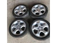 """Mercedes alloy 17"""" wheels 5x112"""