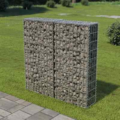 Gabion Wall with Covers Galvanised Steel 100x20x100cm Stone Basket Cage
