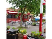Busy Cafe for Sale in vibrant Chorlton, Manchester. With large terrace & high footfall. t/o 220k/yr