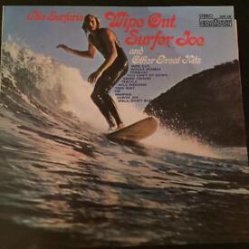 Original THE SURFARIS Vinyl ALBUM WIPEOUT, SURFER JOE