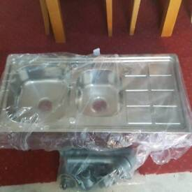 Brand new 1.5 stainless Steel sink with waste