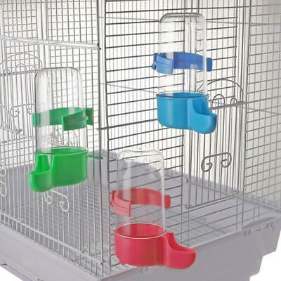 Pet Plastic Bird Drinker Feeder Water Bottle for Aviary Budgie Pigeon 3 Pack