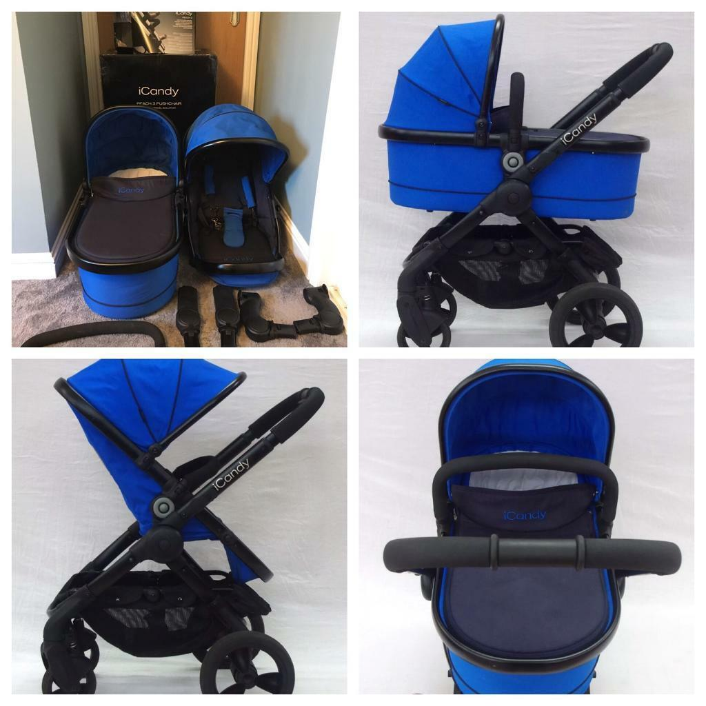 iCandy peach 3 Carrycot and stroller Cobalt blue