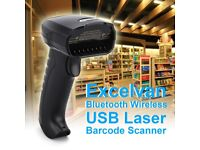 Wireless Handheld Bluetooth USB Laser Barcode Scanner Scan Bar Code POS Reader